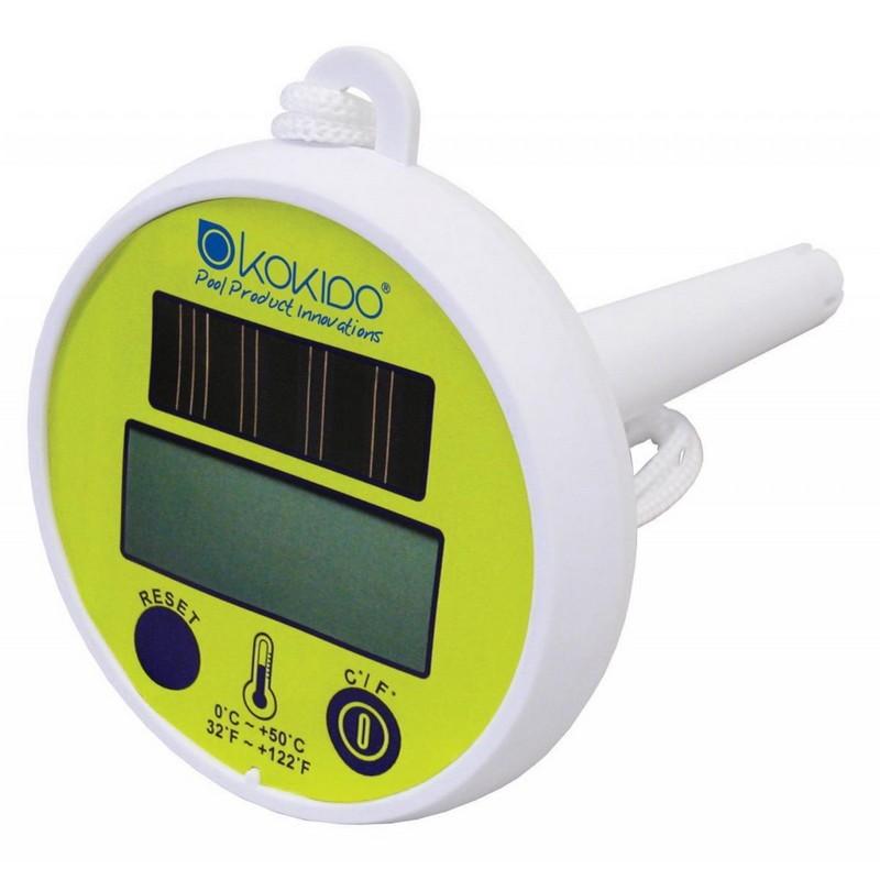 Термометр плавающий, цифровой на солнечных батареях