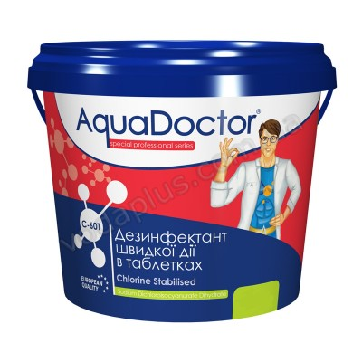 Шок хлор 1 кг AquaDoctor C60 -Т (таблетки)