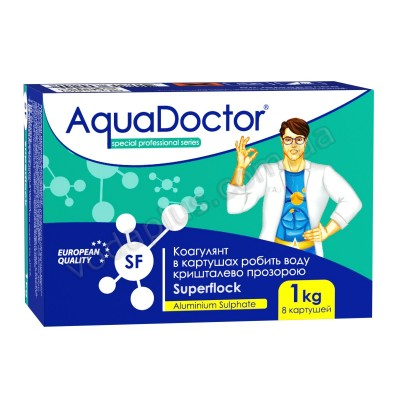 Коагулянт 1 кг - 8 картушей AquaDoctor SF SuperFlock
