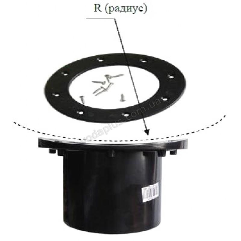 Проход через пленку Xclear 110 мм черный с полукруглым основанием