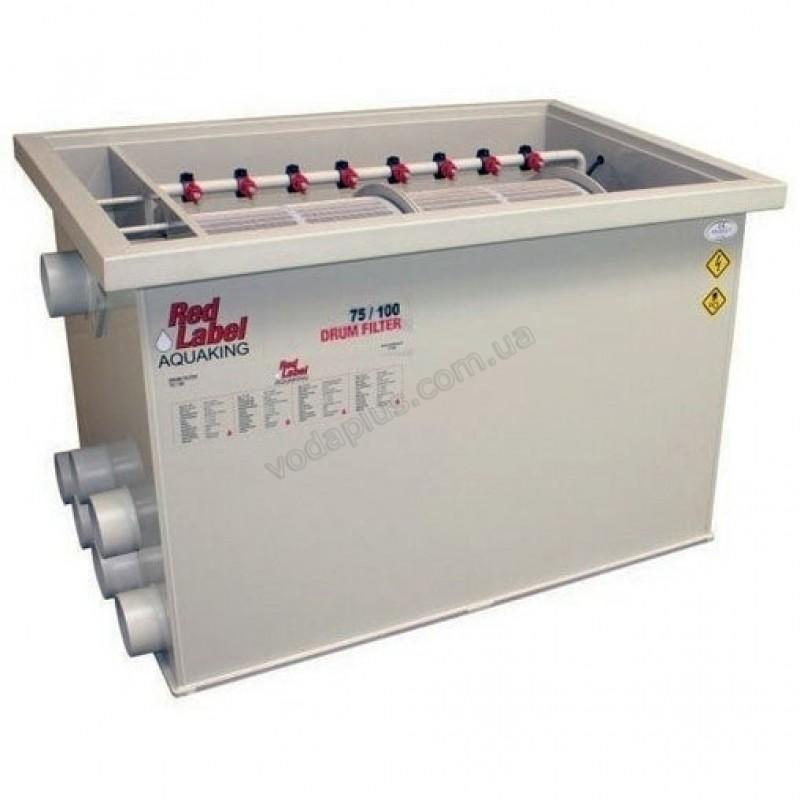 Барабанный фильтр для пруда (УЗВ) AquaKing Red Label Drum Filter 75/100