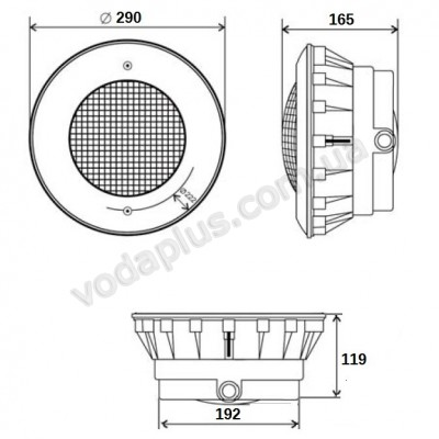 Прожектор 300 Вт - 12 В под бетон Aquant