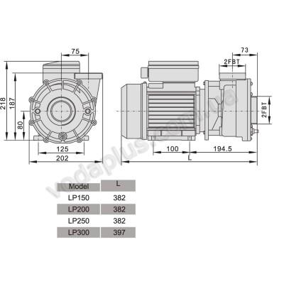 Насос для бассейна Aquaviva LX LP250T 32 м3/час