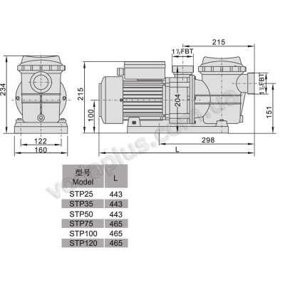 Насос для бассейна Aquaviva LX STP035 8 м3/час