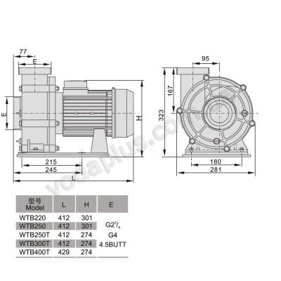 Насос для бассейна Aquaviva LX WTB300T 50 м3/час