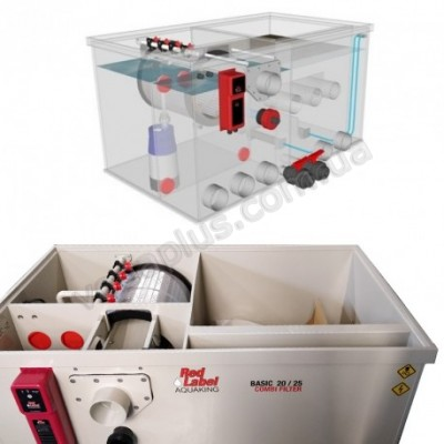 Комбинированный барабанный фильтр для пруда (УЗВ) AquaKing Red Label Combi Drum 20/25 Basic Model 2