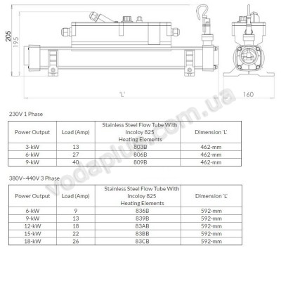 Электронагреватель Elecro 806B Incoloy 6 кВт (230 В)