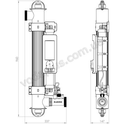 Ультрафиолетовая фотокаталитическая установка Quantum Q - 65 Elecro