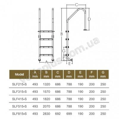 Лестница Standard  Emaux 5 ступеней