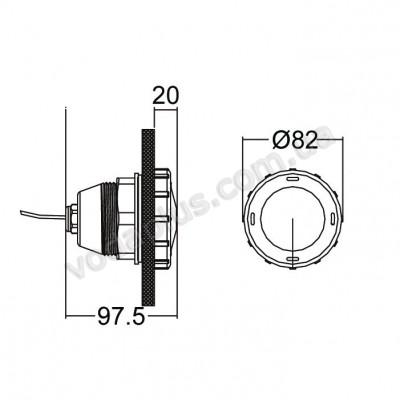 Прожектор для SPA светодиодный белый Emaux LED-P50(W)