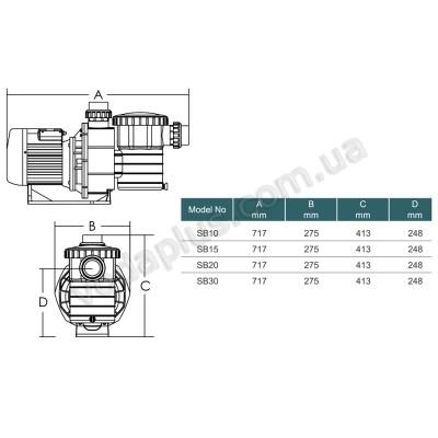 Насос для бассейна Emaux SB20 (400 В) 25 м3/час