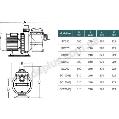 Насос для бассейна Emaux SC100 17 м3/час