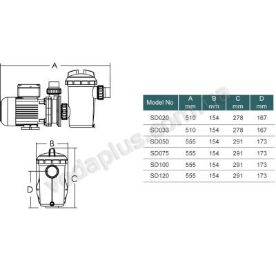 Насос для бассейна Emaux SD050 8,5 м3/час