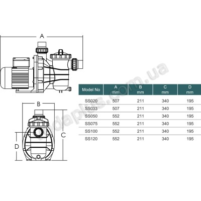 Насос для бассейна Emaux SS033 7 м3/час