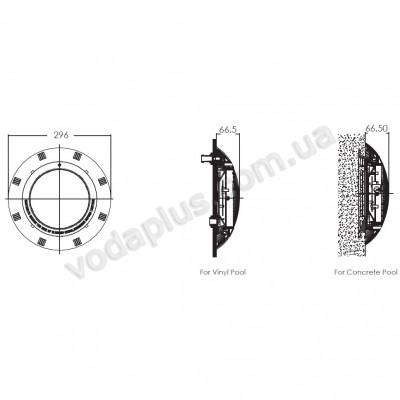 Прожектор плоский галогенный под бетон/лайнер Emaux UL - P100
