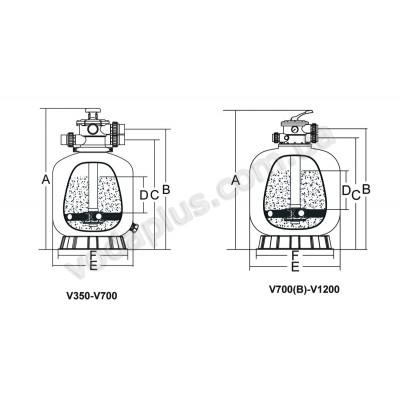 Фильтр Emaux V650 с верхним подключением