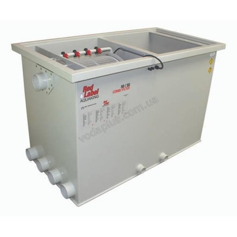 Комбинированный барабанный фильтр для пруда (УЗВ) Aquaking Red Label Combi Drum filter 50/55