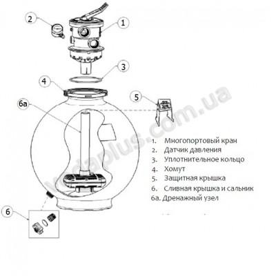 Фильтр Hayward SwimPro VL210T (D 520) с верхним подключением