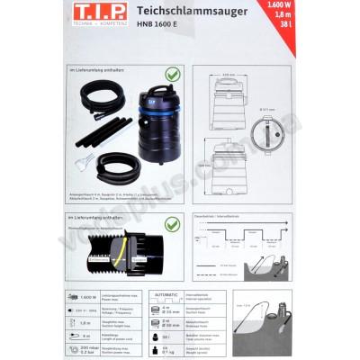 Прудовый пылесос T.I.P. Teichschlammsauger HNB 1600 E