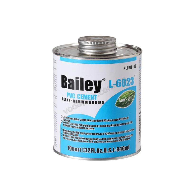 Клей для труб ПВХ Bailey L-6023 237мл