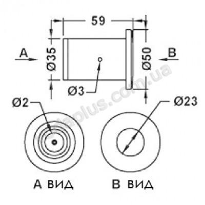 Кнопка для гидромассажа Emaux EM1844