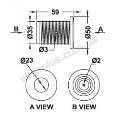 Кнопка для гидромассажа резьбовая Emaux EM1845