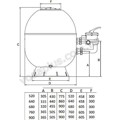 Фильтр Kripsol Artik AK760 боковое подключение