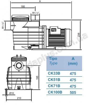 Насос для бассейна Kripsol CK-51 8,5 м3/час