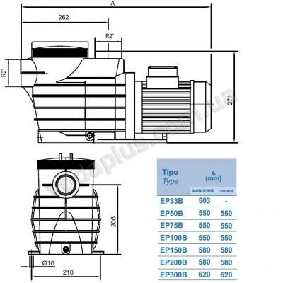 Насос для бассейна Hayward EP 100 (230 В) 15,4 м3/час