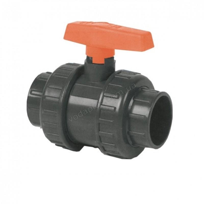 Кран шаровый PVC Kripsol VEP 90.D, 90 мм