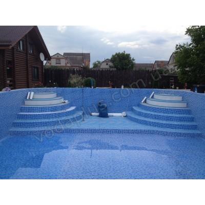 Монтаж пленки (лайнер) для бассейнов, прудов и водоемов.