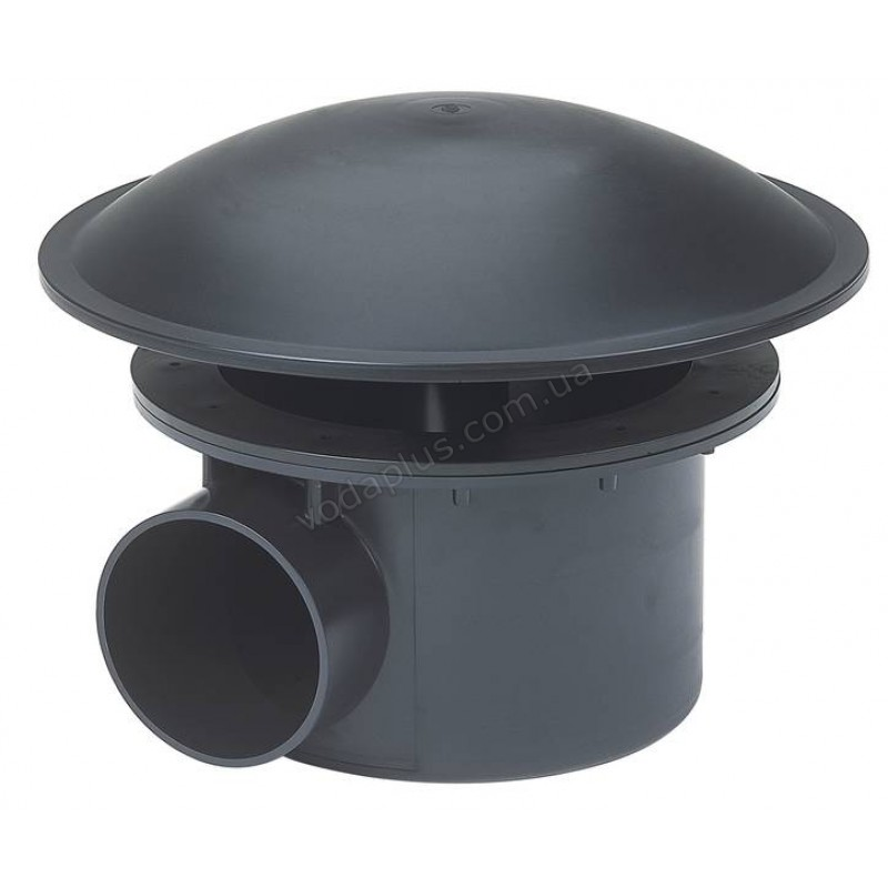 Донный слив для пруда под пленку 110 мм