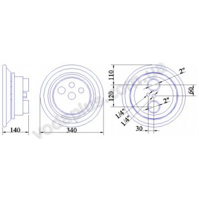 Противоток Pahlen JET-SWIM 1200 под пленку, 55 м3/час