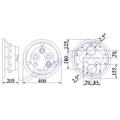Противоток Pahlen JET-SWIM 2000 под пленку, 78 м3/час