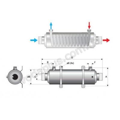 Теплообменник спиральный Pahlen Hi-Flow 40 kW