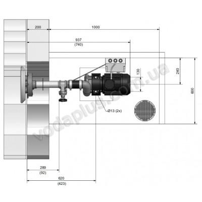 Противоток Pahlen JET-SWIM 1200 под бетон, 55 м3/час