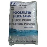 Песок кварцевый Quarzwerke, фракция 0,4-0,8 мм