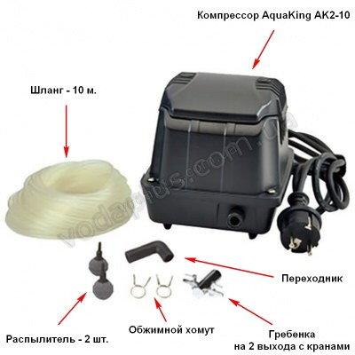 Аэратор Aquaking Set AK2-10 (к-кт)