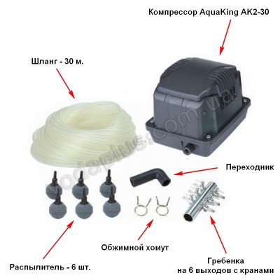 Аэратор Aquaking Set AK2-30 (к-кт)