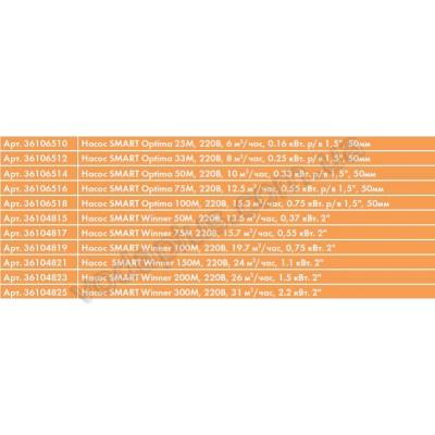 Насос для бассейна Saci Smart Winner 75M 15,7 м3/час