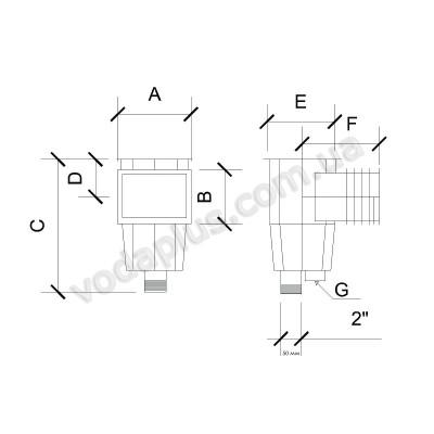 Скиммер Aquant под бетон стандарт 21101