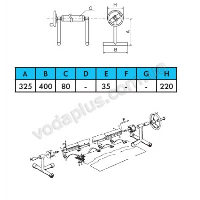 Ролета навивочная Vagner pool 2,7-4,4 м (передвижная)